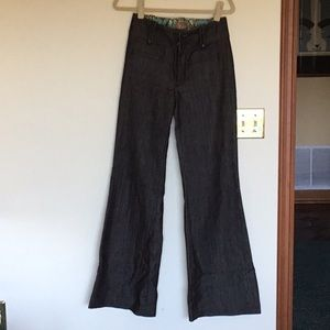 Rich & Skinny charcoal flare denim jeans.